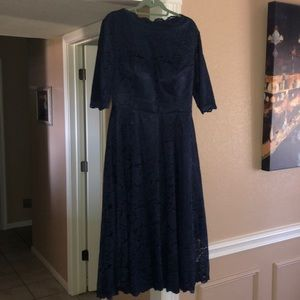 """Navy lace evening dress. """"Mother of the Bride"""""""